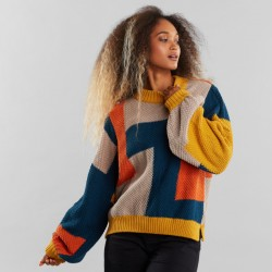 SWEATER KNITTED RUTBO BLOCKS MULTI COLOR
