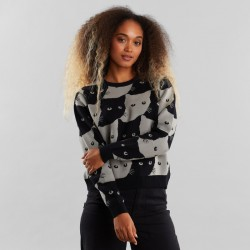 SWEATER ARENDAL CATS GREY