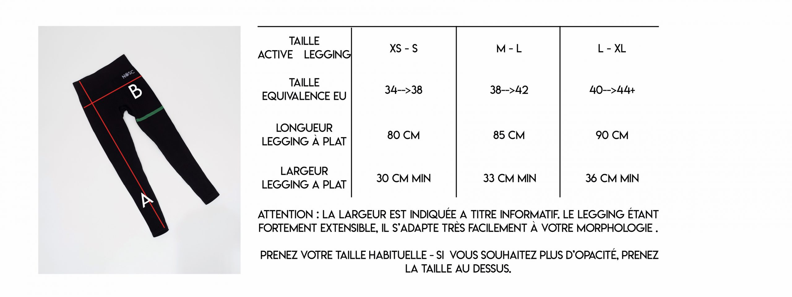 guide taille NOSC